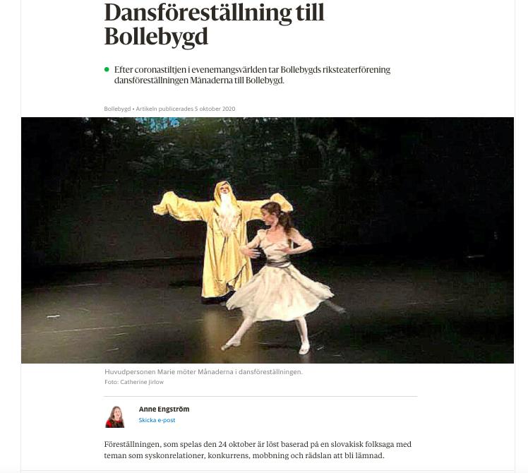"""Borås tidning skriver om """"Månaderna"""""""